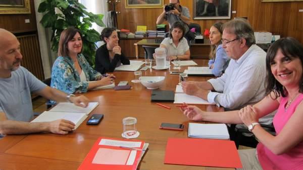 Junta de portavoces extraordinaria del Ayuntamiento de Zaragoza en agosto