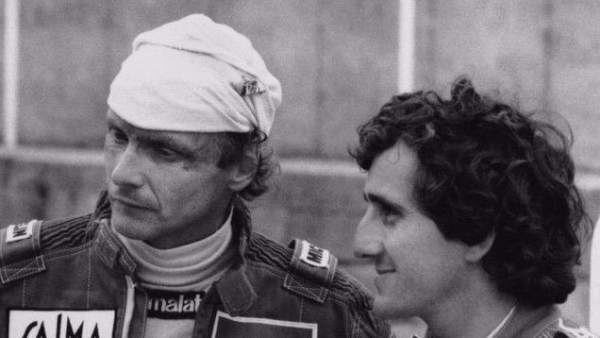 Niki Lauda y Alain Prost