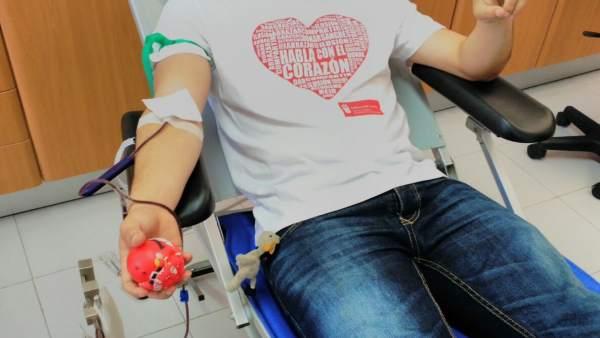 Donante de sangre en Canarias