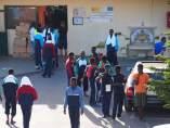 Migrantes en las instalaciones del CETI de Ceuta