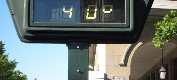 Termómetro a 40 grados.
