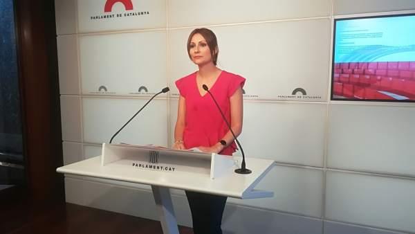 La diputada de Ciudadanos en el Parlament, Lorena Roldán