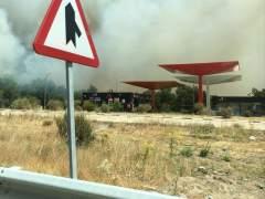 Incendio en El Escorial