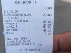 Timo en un bar de Venecia: dos cafés y dos aguas por 43 euros