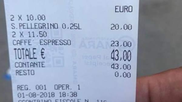 Timo en un bar de Venecia