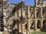 Vista del Monasterio de Rioseco que voluntarios y vecinos están rehabilitando