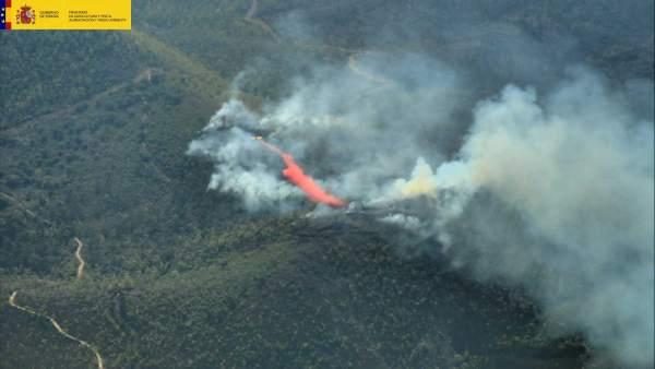 Incendio de Nerva (Huelva) el 1 de agosto de 2018