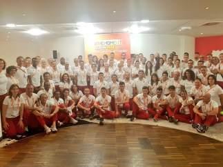 Parte del equipo español para el Europeo de atletismo de Berlín