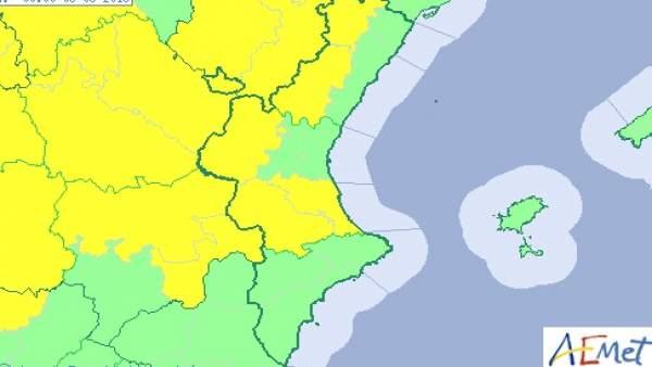 L'interior de València i Castelló està en avís aquest dimarts per tempestes