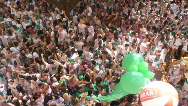 Chupinazo en las fiestas de San Lorenzo 2012