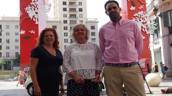Teresa Porras en la presentación de actividades de la Feria en el Centro