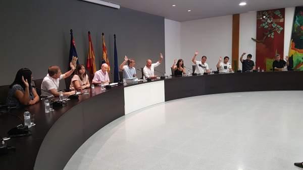 Pleno extraordinario del Ayuntamiento de Binéfar