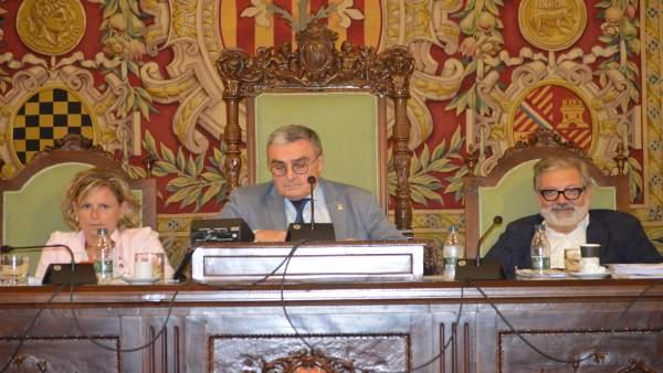 EUROPA PRESS / Montse Mínguez, Àngel Ros y Félix Larrosa.