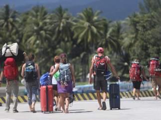 Turistas evacuados por el terremoto en Lombok