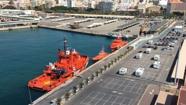 Salvamento en el Puerto de Almería