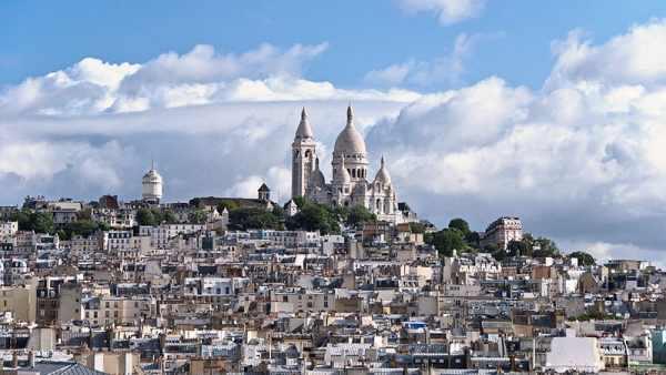 Vista sobre el barrio Montmartre en París