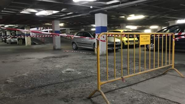Interior del aparcamiento de San Francisco.