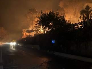 Incendio declarado en Llutxent (Valencia) en la parte afectada de Barx (Valencia).