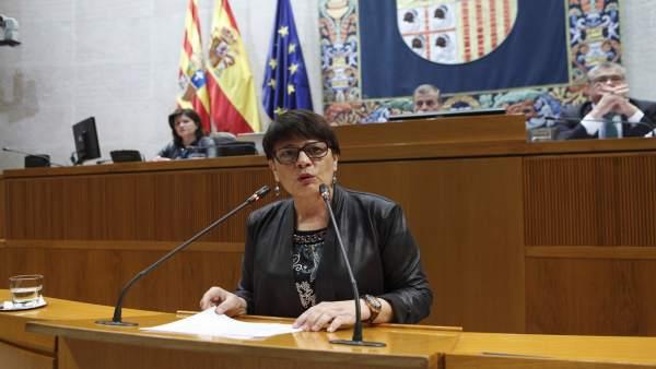 La diputada del PSOE en las Cortes de Aragón, Margarita Périz