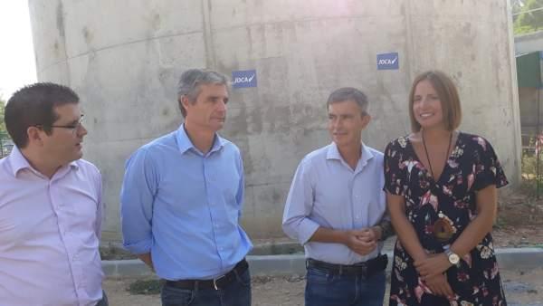 El delegado territorial de Medio Ambiente, Ángel Acuña, en Arcos