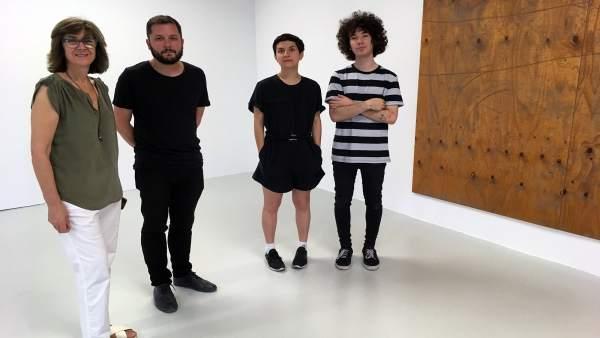 López-Briones, Porlán, Fernández, y Waeler en la inauguración