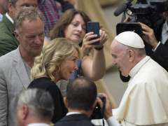 Sting, Trudie Styler y el papa Francisco