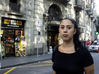 Carla Ramos, testigo de los Atentados de Barcelona, en la Rambla