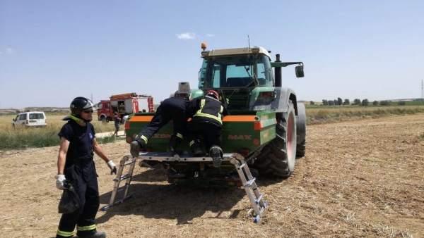 Soria.- Herido un agricultor en Almazán