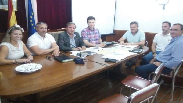 Reunión sobre el proyecto de depuradora de Campillo de Arenas y Noalejo.