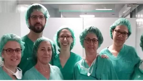 Equipo de cirugía del Hospital Joan XXIII