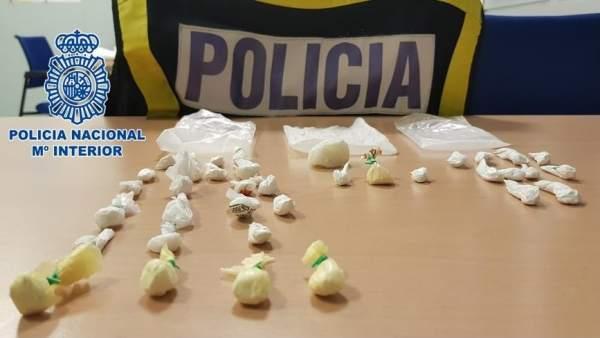 Cocaína incautada en una operación en clubes de alterne y locales nocturnos