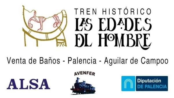Cartel del Tren  Histórico por Palencia 9-8-2018