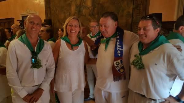 La consejera Gastón en las fiestas de San Lorenzo