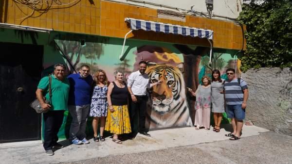 Málaga más bella grafiti colorido calle eresma palma-palmilla