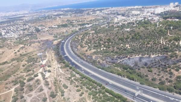 Carretera A7 Málaga uincendio torremolinos tráfico coches autovia