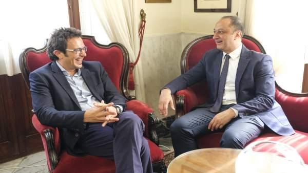Reunión entre el delegado del Gobierno y el alcalde de Cádiz