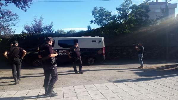 Pase a disposición judicial en Vigo de los detenidos