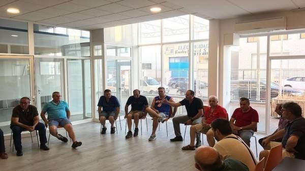 Asamblea de empresarios del polígono.