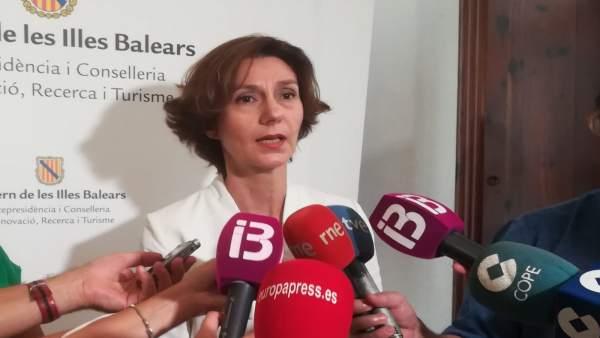 La secretaria de Estado de Turismo, Isabel Oliver, en Palma