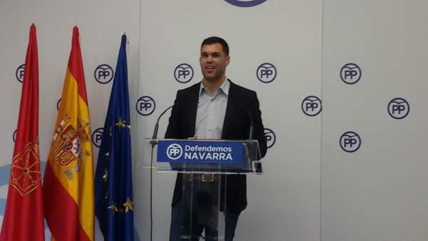Javier García, parlamentario del PP.