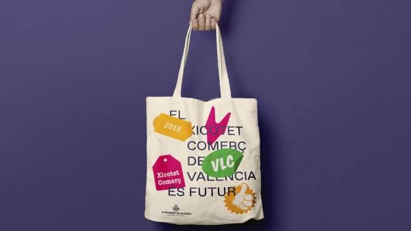 L'Ajuntament de València distribueix 15.000 bosses de tela en comerços
