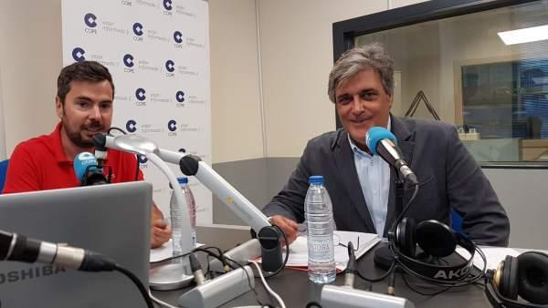 El portavoz del PP en el Parlamento gallego, Pedro Puy, en entrevista para COPE