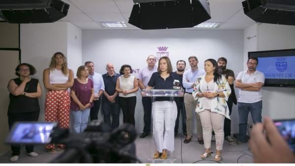 Rueda de prensa del Ayuntamiento de Gandia