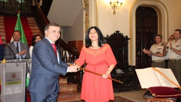 Toma de posesión de la nueva subdelegada del Gobierno en Granada