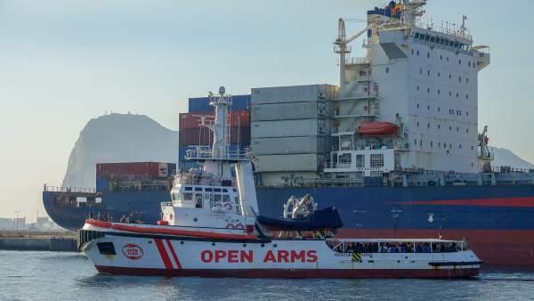 Open Arms llega a Algeciras (Cádiz)