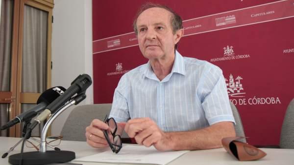 Andrés Pino en rueda de prensa