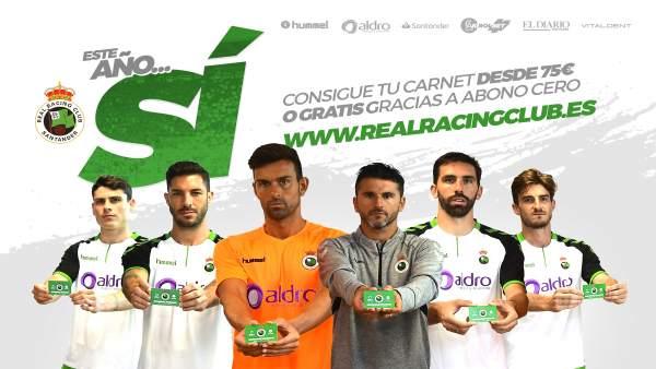 Anuncio campaña de abonados del Racing de Santander