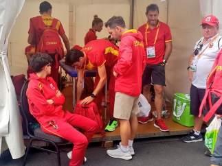 El equipo español de marcha espera su momento