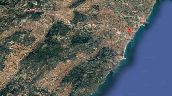 Vista satélite del municipio de Benicarló