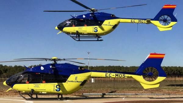 Helicópteros del Servicio de Transporte Aéreo del Sescam